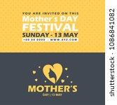 mother's day typographic design ... | Shutterstock .eps vector #1086841082