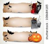 halloween vertical banners | Shutterstock .eps vector #108684185