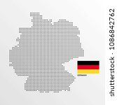 germany map design with flag... | Shutterstock .eps vector #1086842762