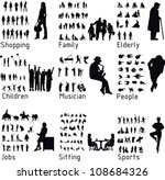 All people activity silhouettes. Vector illustration | Shutterstock vector #108684326