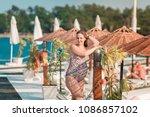 beautiful pregnant woman... | Shutterstock . vector #1086857102