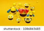 group of emoticons with yellow... | Shutterstock . vector #1086865685