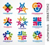 teamwork and friendship... | Shutterstock .eps vector #1086875042