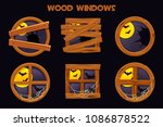 different shape and old... | Shutterstock .eps vector #1086878522
