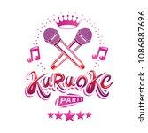 karaoke party promotion poster... | Shutterstock .eps vector #1086887696