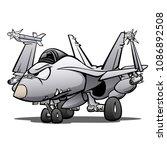 military naval fighter jet... | Shutterstock .eps vector #1086892508