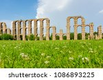 aqueduct of the miracles ... | Shutterstock . vector #1086893225