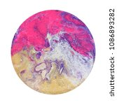 colorful circle blots. abstract ... | Shutterstock . vector #1086893282