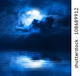 dark night full moon | Shutterstock . vector #108689912