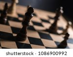 chess on chessboard close up | Shutterstock . vector #1086900992