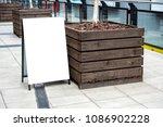 blank white outdoor advertising ... | Shutterstock . vector #1086902228