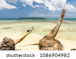 a view from the paradise island ... | Shutterstock . vector #1086904982