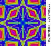 illustration of a kaleidoscope  ... | Shutterstock . vector #1086905222
