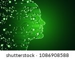 big data and artificial... | Shutterstock .eps vector #1086908588