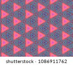 colorful seamless pattern with... | Shutterstock . vector #1086911762