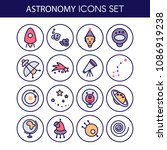 space icons made in modern line ... | Shutterstock .eps vector #1086919238