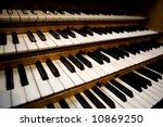 An Old Pipe Organ Keyboard In ...