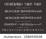 handrawn vector alphabet.... | Shutterstock .eps vector #1086930038