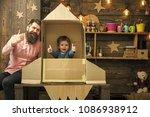 rocket launch concept. kid...   Shutterstock . vector #1086938912