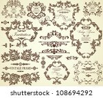 collection of different vintage ... | Shutterstock .eps vector #108694292