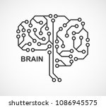 machine learning. artificial... | Shutterstock .eps vector #1086945575