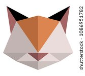 abstract low poly cat icon | Shutterstock .eps vector #1086951782