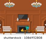 vip vintage interior furniture... | Shutterstock .eps vector #1086952808