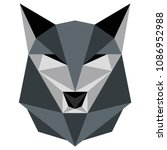 abstract low poly wolf icon | Shutterstock .eps vector #1086952988