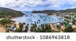 vinh hy bay and boats at phan... | Shutterstock . vector #1086963818