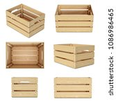 wooden crates from various... | Shutterstock . vector #1086986465