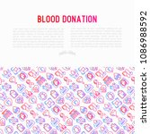 blood donation  charity  mutual ... | Shutterstock .eps vector #1086988592
