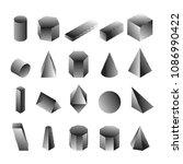 halftone isometric geomtric... | Shutterstock .eps vector #1086990422