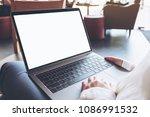 mockup image of woman's hands... | Shutterstock . vector #1086991532