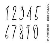 ballpen lettering numbers.... | Shutterstock .eps vector #1086993302