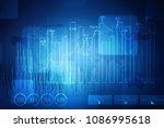2d rendering stock market...   Shutterstock . vector #1086995618