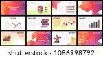 business presentation templates.... | Shutterstock .eps vector #1086998792