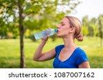 young beautiful women resting... | Shutterstock . vector #1087007162