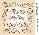 calligraphic elegant elements... | Shutterstock .eps vector #1087008125