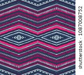 abstract ikat and boho style... | Shutterstock .eps vector #1087008752