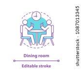 dinner break concept icon.... | Shutterstock .eps vector #1087013345
