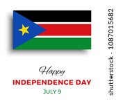 happy independence day of south ... | Shutterstock .eps vector #1087015682