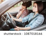 a picture of couple travelling... | Shutterstock . vector #1087018166