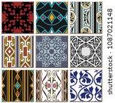 oriental antique retro ceramic...   Shutterstock .eps vector #1087021148