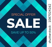 sale banner design template.... | Shutterstock .eps vector #1087024262