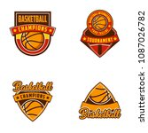 basketball logo badges sports | Shutterstock .eps vector #1087026782