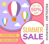 sale banner design template.... | Shutterstock .eps vector #1087032566