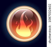 fire element button  game icon...