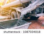 industry concept. concrete... | Shutterstock . vector #1087034018