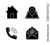 information center glyph icons... | Shutterstock .eps vector #1087034762