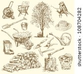gardening tools   hand drawn... | Shutterstock .eps vector #108704282